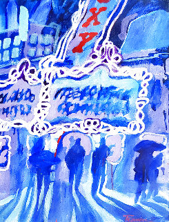 Roxy 1947 33x27  New York City Original Painting - James Talmadge