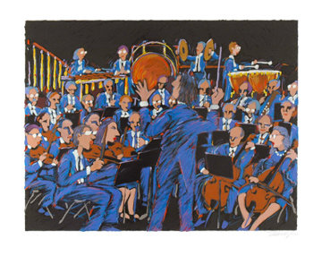 Concert In Blue Limited Edition Print by James Talmadge