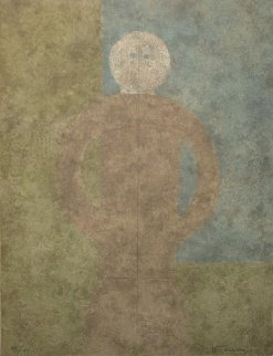 Personaje En Gris #1 1980 Limited Edition Print by Rufino Tamayo