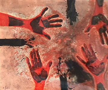 Tamayo Suite: Manos En Rojo, Plate #14   1979 Limited Edition Print - Rufino Tamayo