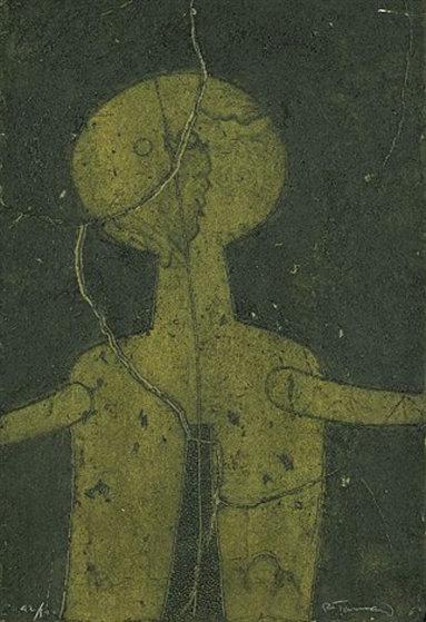 Figura En Verde (Figure in Green)  Limited Edition Print by Rufino Tamayo
