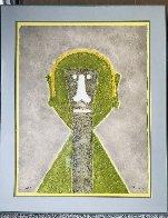 Cabeza En Amarillo 1976 Limited Edition Print by Rufino Tamayo - 1