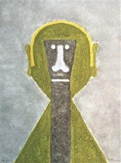 Cabeza En Amarillo Or Hombre En Vert 1976 Limited Edition Print - Rufino Tamayo