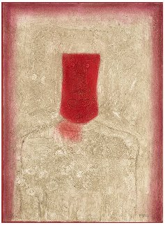 Mascara Roja (Red Mask) 1976 Limited Edition Print by Rufino Tamayo