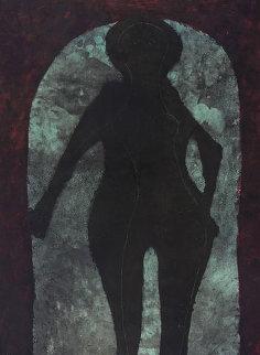 Mujer En Negro 1976 Limited Edition Print - Rufino Tamayo