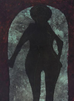 Mujer En Negro 1976 Limited Edition Print by Rufino Tamayo