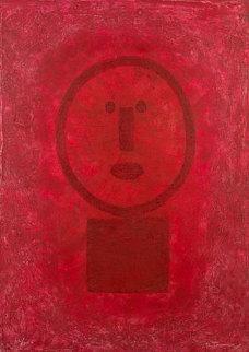 Cara En Rojo 1977 Limited Edition Print - Rufino Tamayo