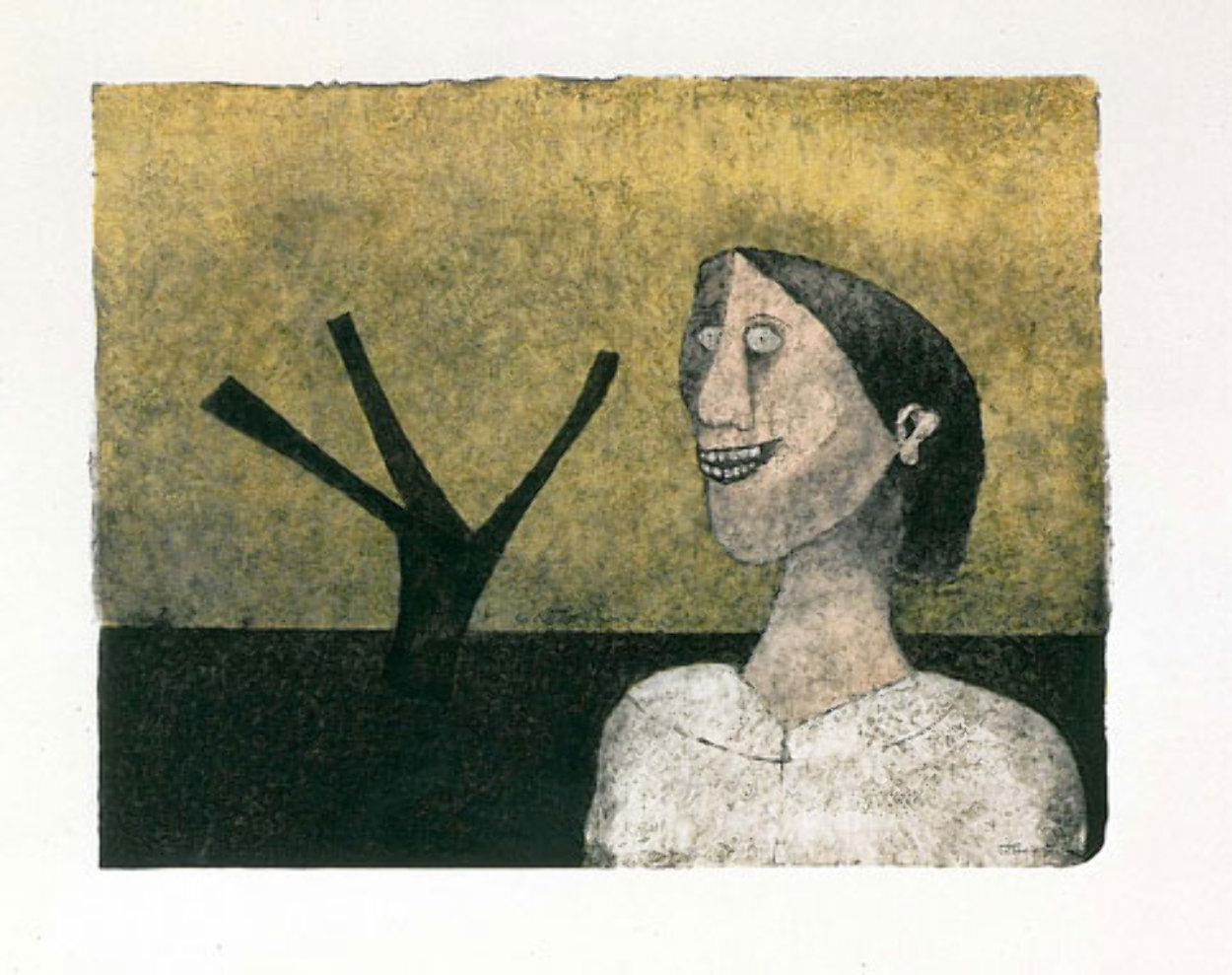 Smiling Woman (Mujer Sonriente) 1989 Limited Edition Print by Rufino Tamayo