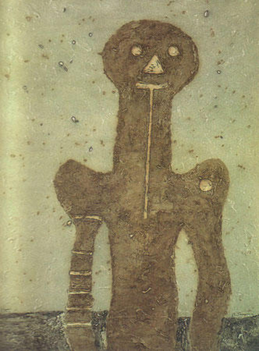 Torso (Olive Background) 1975 Limited Edition Print by Rufino Tamayo