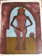 Femme Au Collant Rose (Mujer Con Mallas Rosas) 1969 Limited Edition Print by Rufino Tamayo - 1