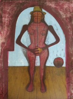 Femme Au Collant Rose (Mujer Con Mallas Rosas) 1969 Limited Edition Print by Rufino Tamayo