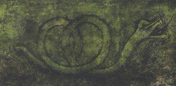Quetzalcoatl (P. 248) 1978 mixographia 27x52 Limited Edition Print by Rufino Tamayo