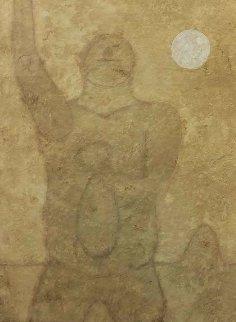 Hombre Con Coraje Mixographia 1982 Limited Edition Print - Rufino Tamayo