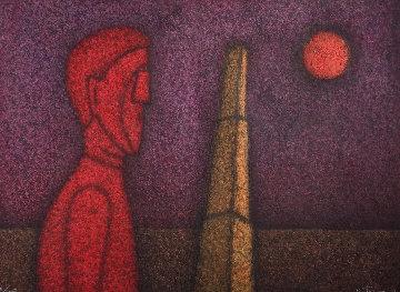 Figura En Rojo 1989  Mixographia Limited Edition Print - Rufino Tamayo