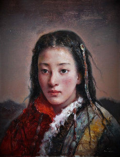 Mountain Dweller 2012 20x16 Original Painting - Tang Wei Min