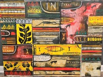 No Promises in Paradise 2003 60x77 Huge Original Painting - Mahiriki  Tangaroa