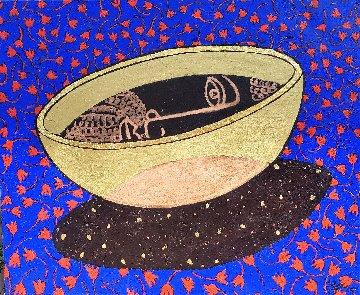 Grail, Gods Bowl 2015 39x47 Original Painting by Jacques Tange