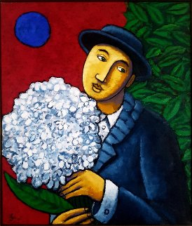 Useless Flowers 2013 27x23 Original Painting - Jacques Tange