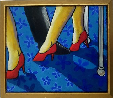 Dance 2000 25x29 Original Painting - Jacques Tange