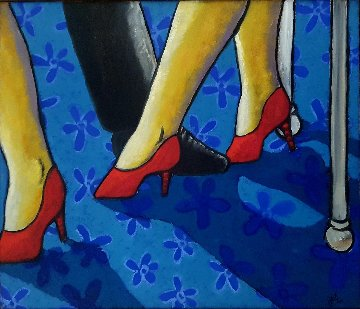 Dance 2000 25x29 Original Painting by Jacques Tange