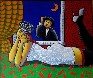Half Moon 2006  41x49 Original Painting by Jacques Tange