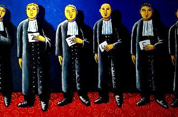 Line Up 2011 49x73 Super Huge Original Painting - Jacques Tange
