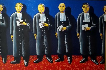 Line Up 2011 47x70 Original Painting by Jacques Tange