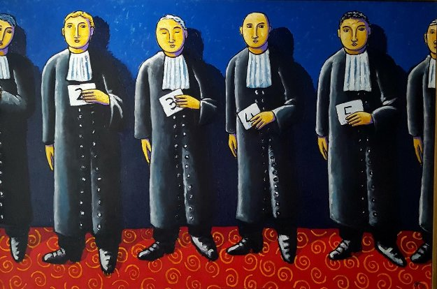 Line Up 2011 47x70  by Jacques Tange