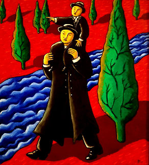 Directions 2005 49x41  Huge Original Painting - Jacques Tange