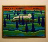 Black Train Running East 1997 41x48 Original Painting by Jacques Tange - 1