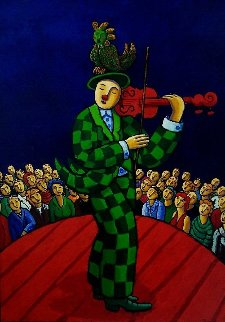 Circus 2010 55x39 Original Painting by Jacques Tange