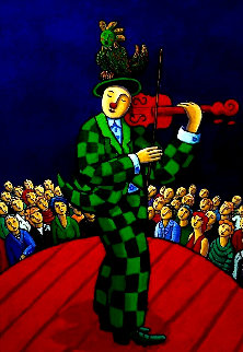 Circus 2010 57x41 Original Painting - Jacques Tange