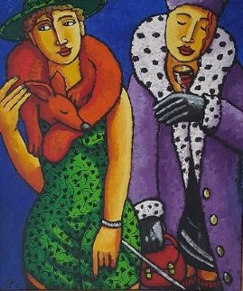 Dress to Sell 2017 39x33 Original Painting by Jacques Tange