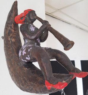 Wake Up Call Bronze Sculpture 2009 11x11 Sculpture - Jacques Tange