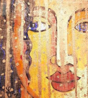 Golden Veil 2019 43x39 Original Painting by Jacques Tange