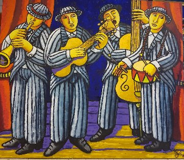 Loudest Band in the World 2018 47x55 Original Painting - Jacques Tange