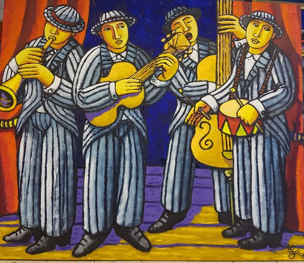 Loudest Band in the World 2018 47x55 Original Painting by Jacques Tange