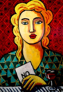 Small Letter of Rejection 2020 36x27 Original Painting - Jacques Tange