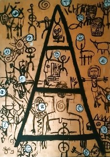 Letter to God 2019 55x39 Original Painting - Jacques Tange