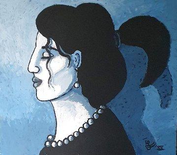 Modern Melancholie 2020 30x26 Original Painting - Jacques Tange