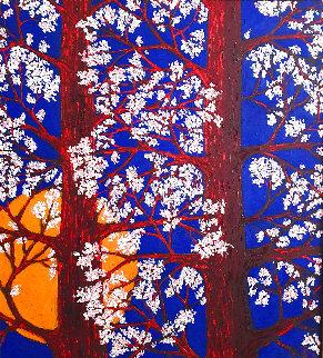 Suitable Trees 2015 45x41 Huge Original Painting - Jacques Tange