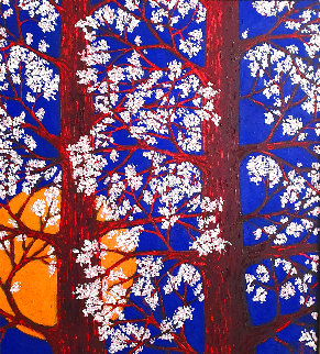 Suitable Trees 2015 45x41 Super Huge Original Painting - Jacques Tange