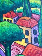 Village With Storm 2015 48x40 Huge Original Painting by Jacques Tange - 3