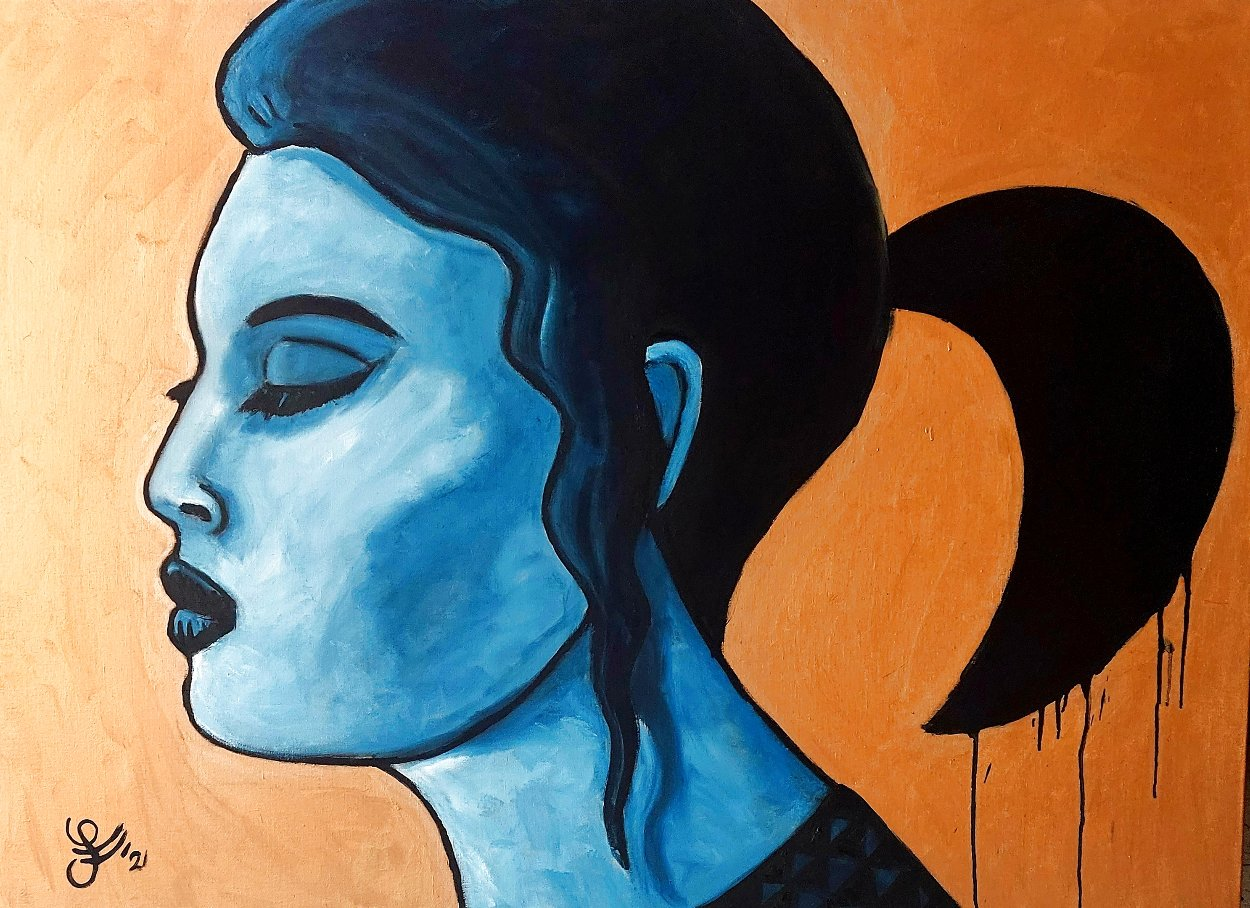 Ice Age (Melting) Original 2021 40x55 Huge Original Painting by Jacques Tange