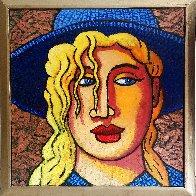 Blond 'N Blue Original 2018 35x33 Original Painting by Jacques Tange - 0