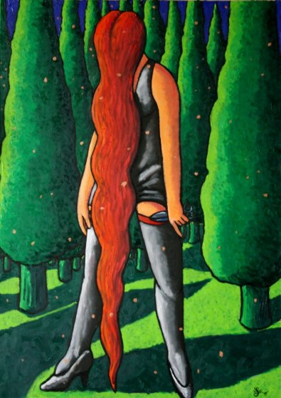 Snow in June 2016 55x39 Original Painting by Jacques Tange