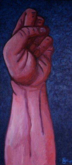 Faust, Wut Oder Freiheit 2015 70x31 Original Painting by Jacques Tange