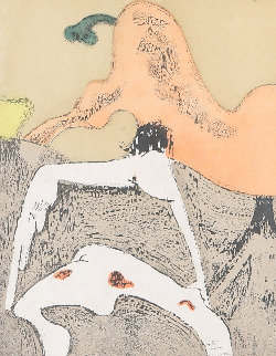 Corps Et Visage (Body And Face) 1973 Works on Paper (not prints) - Dorothea Tanning