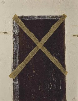 La Grande Porte 1972 Limited Edition Print by Antoni Tapies