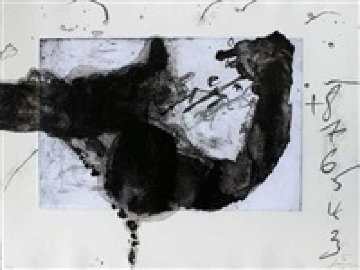 Komposition (From Un Vase De Terre) 1988 Limited Edition Print by Antoni Tapies